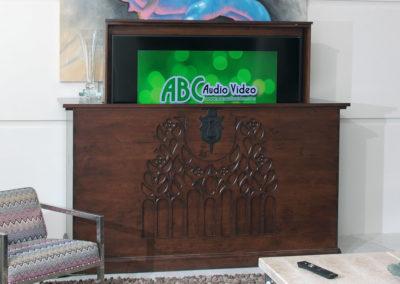 Hidden TV Display