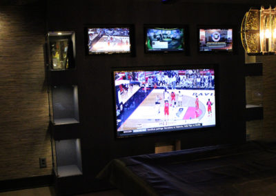 TV Mountings in Entertainment Area