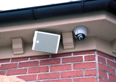 Security Camera and Outdoor Speakers
